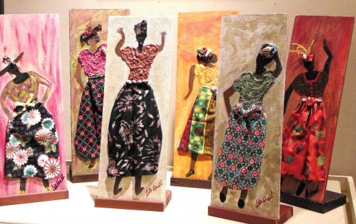 Gullah art on display.