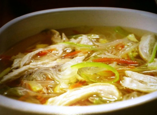 Chicken and noodle soup