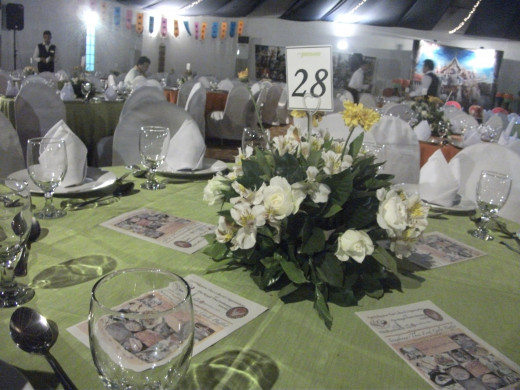 fancy table setting for the night. :)