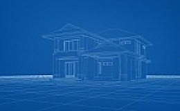 wireframe of a house