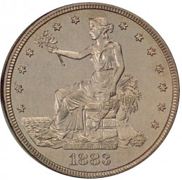Find and Collect Rare Coins - Obverse of 1883 trade dollar.  Source: Public Domain Image