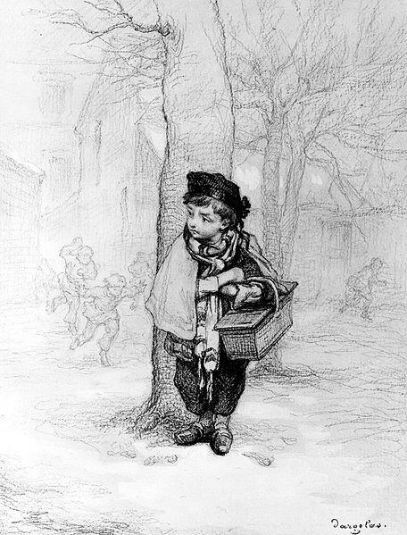 """""""Schoolboy"""" by Andre-Henri Dargelas, circa 1870."""