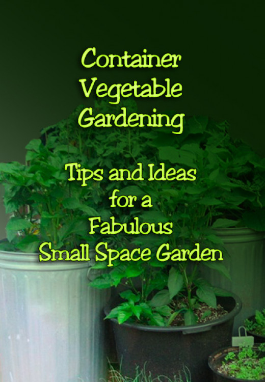 Tips and ideas for growing container vegetable gardens in small spaces.