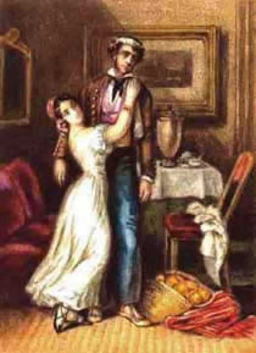 Watercolor by Prosper Mérimée for his novel Carmen