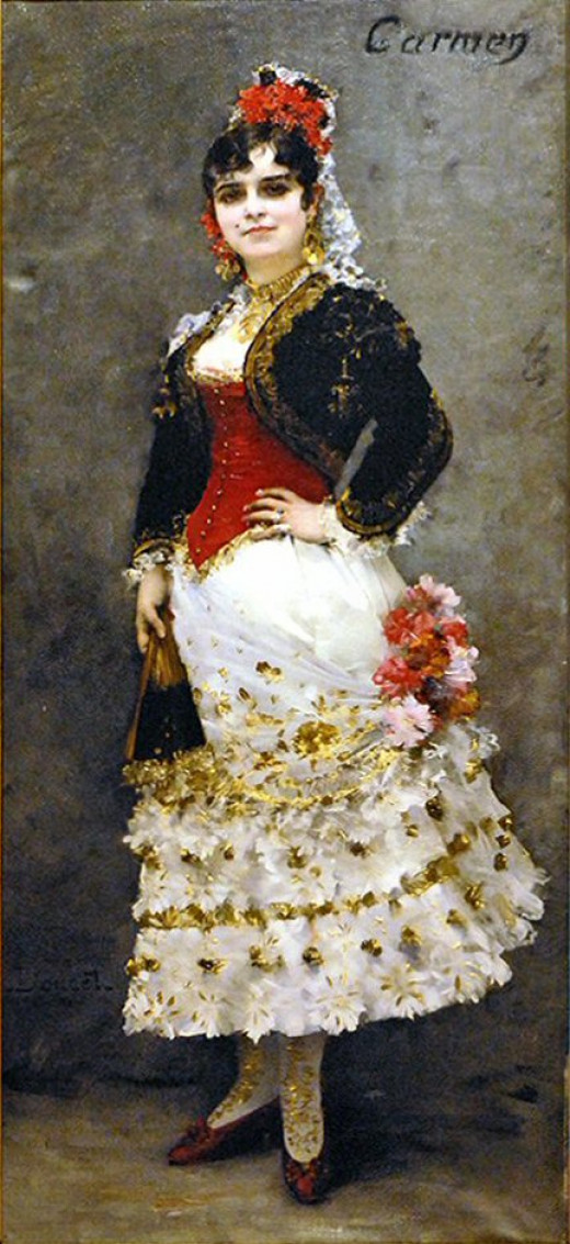 Portrait of Célestine Galli-Marié as Carmen by Henri Lucien Doucet