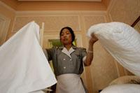 Hotel housekeeping employees