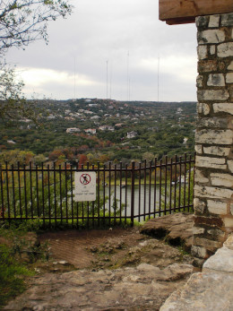The view from the top of Mount Bonnell