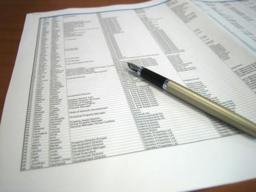 Data printout