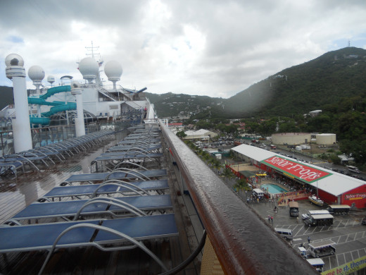 Deck on a Rainy Morning in St. Thomas