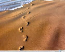 Footprints in the Sand- Waiting for son to SLEEP