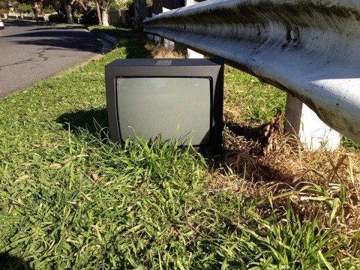 A discarded analogue TV. Is it the right time for African Countries to go digital?