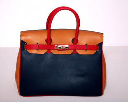 Pure Italy  Carbotti Dark Palmetto 'Birkin' Handbag