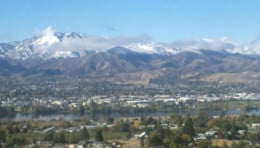 Wenatchee, as seen from East Wenatchee across the Columbia River.