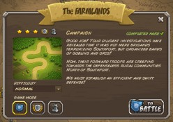 Kingdom Rush walkthrough: Level 2 - The Farmlands