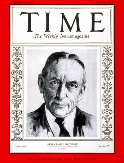 Osborn in Time Magazine, December 1928.