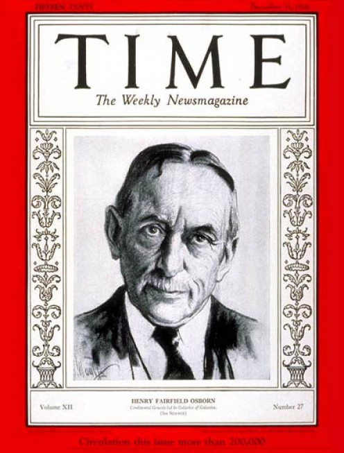 Osborn in Time Magazine, December 1928.