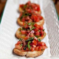 The Best Ever Caramelized Tomato Bruschetta