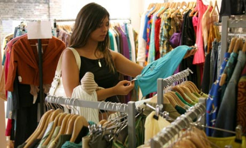 Second hand thrift shops with a big range of nice clothes