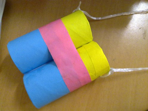 Toilet paper rolls Binoculars for the kids