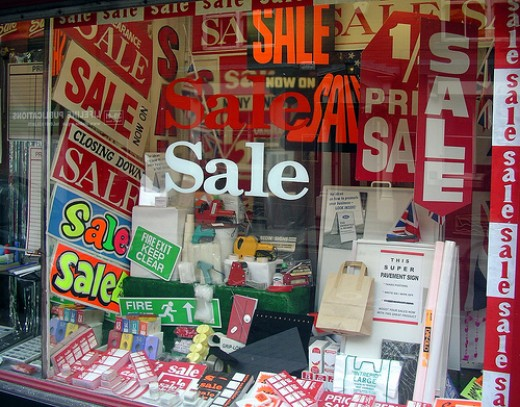 Sale Signs  in a For Sale Sign Shop