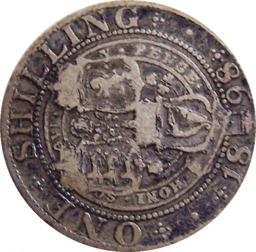 Find and Collect Rare Coins: 1898 Shilling.  Queen Victoria Silver Shilling.  Source: Author