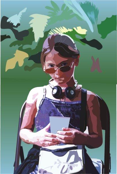 Illustrator Image of my eldest daughter