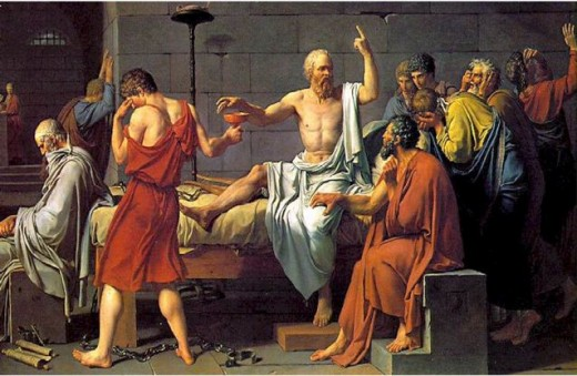 Socrates, the teacher, stood up for what he believed-- even when he was sitting down.