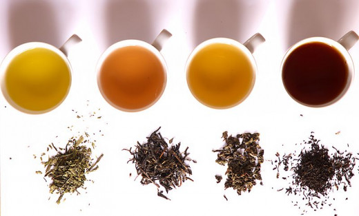 Green Tea -Yellow Tea -Oolong Tea -Black Tea