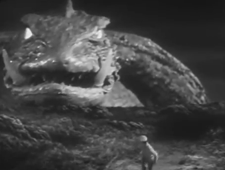 Toshio sees Gamera for the first time.
