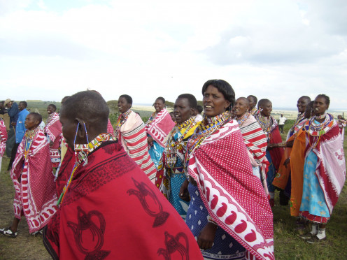 "It's a culture ""thing"" - colorful accessories complement the Masai regalia"