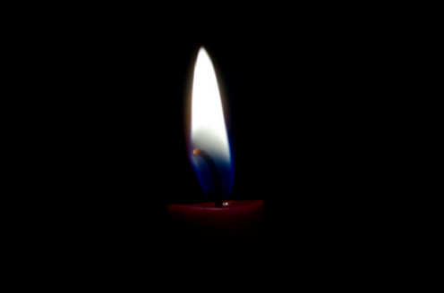 Candle with a Blue Flame.  How to - Candle Magic; article accompaniment image.