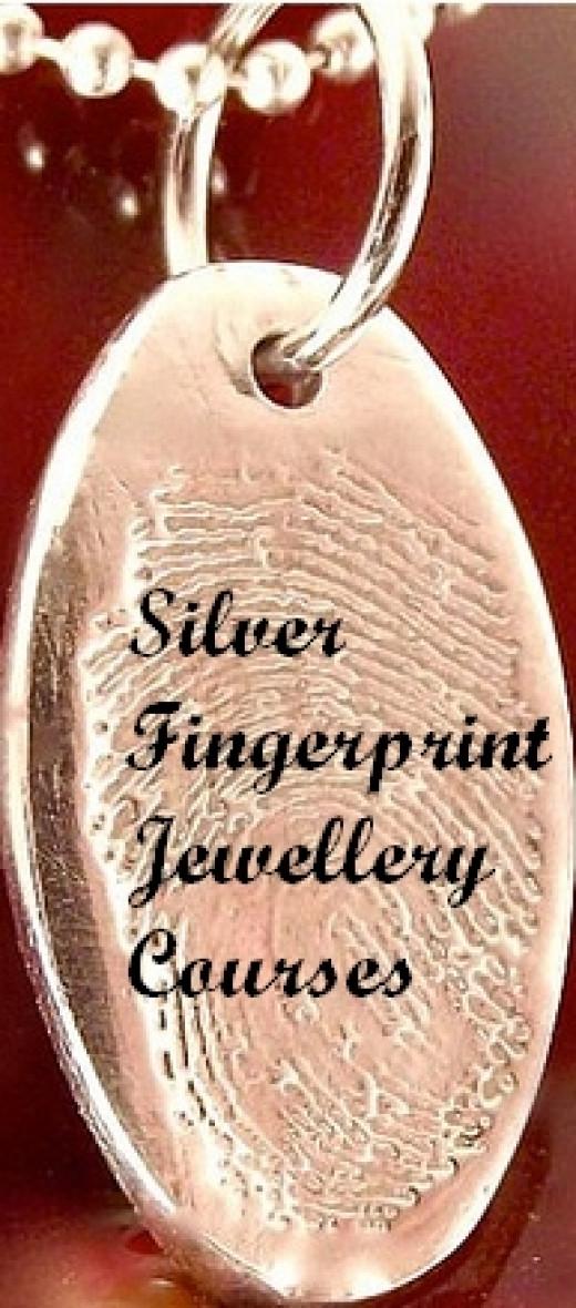 Silver Fingerprint Jewellery.  Image by Funky Art Queen