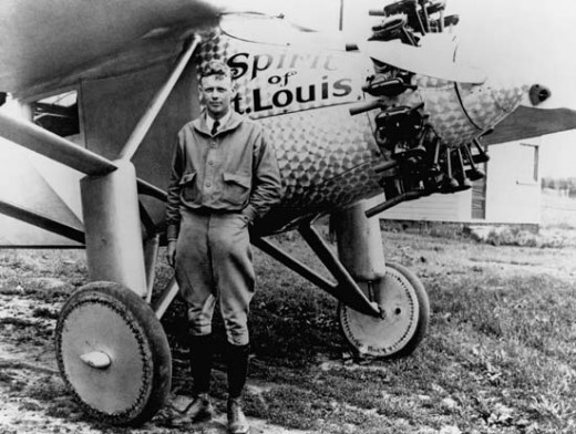 Lindbergh was one of the aviation pioneers who took off from Roosevelt Field.