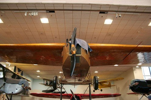 The Fokker T-2 is on display in the Smithsonian in Washington, D.C.