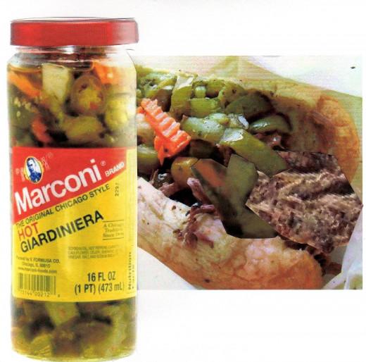 Tasty Beef and Hot Giardiniera