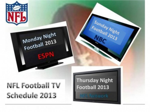 2013 NFL Football TV Schedule-ESPN Monday Night Football-NBC Sunday Night Football-NFL Network Thursday Night Football
