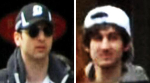 Boston Marathon Bombers: Tamerlan on left, Dzhokhar on right