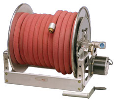 The booster reel is limited in water capacity and therefore not ideal for structural fire operations.