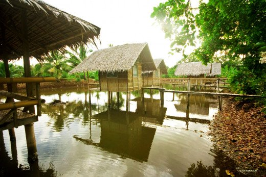 A  beautifully designed nipa houses in the fishpond, is a very creative and cute idea!....You can also sit quietly on a bamboo chair for a minute while watching the pond, fishes like bangus (milkfish) or tilapia will gradually appear for you to watch