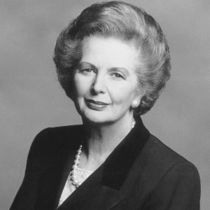 A classic portrait of the Iron Lady.