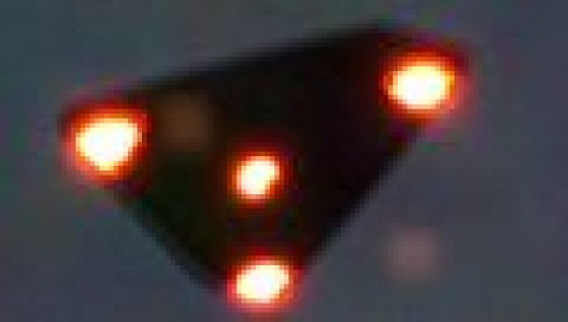 Actual verified photo of UFO seen over Belgium in 1990 by over 13,500 citizens, including military pilots