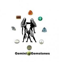 Gemini Gemstones : Diamond, Aquamarine, Citrine, Rutilated Quartz, Tiger Eyes, Emerald, Moonstone, Serpentine and Pearl.
