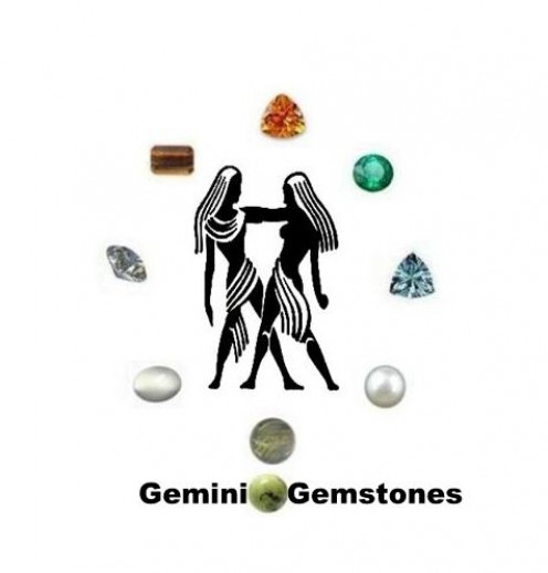Gemini Gemstones : Diamond, Aquamarine, Citrine, Rutilated Quartz, Tiger Eyes, Emerald, Moonstone, Serpentine and Pearl.