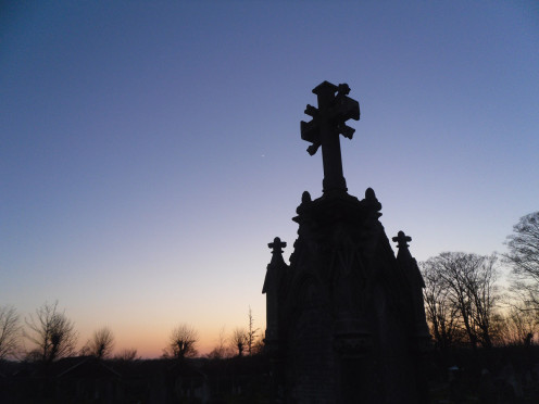 A Steeple at Sunset - Image to: Herpes Simplex in the Armpit Area of Women article.