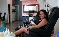 My first pedicure. It was a nice treat.
