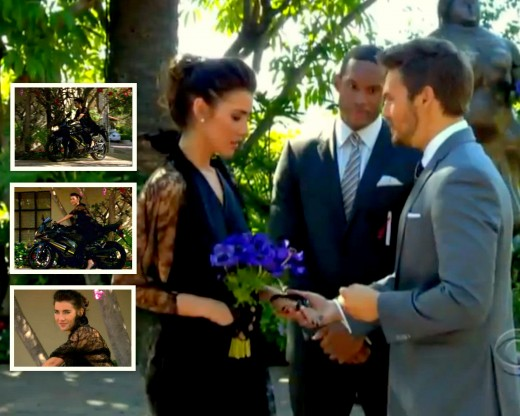 Hope and Liam married in an unconventional ceremony on the Forrester Estate