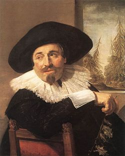 Portrait of a Gentleman, Isaak Abrahamsz Massa by Frans Hals 1626, and given to the AGO in 1955 by Frank P. Woods