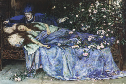 Sleeping Beauty, Henry Meynell Rheam (1899)