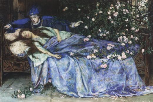 Sleeping Beauty, Henry Meynell Rheam (1899)