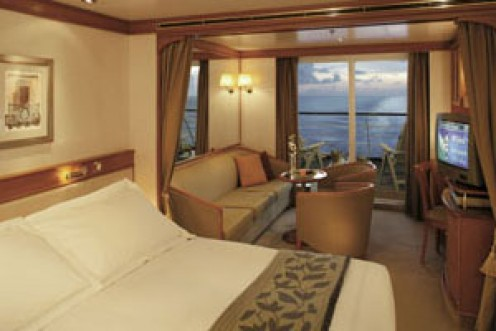 One of the most common suites on the Seven Seas Voyager.